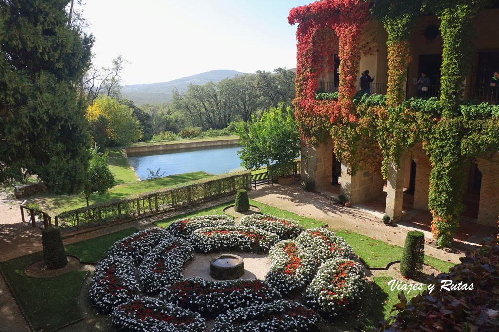 Jardines del palacio de Carlos I, Monasterio de Yuste