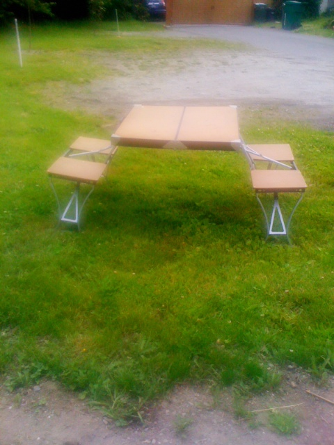 Artifact Vintage Portable Folding Picnic Table Sold