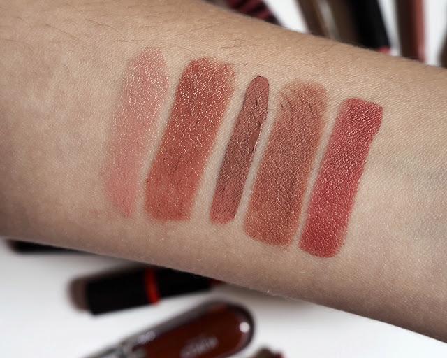 lipstick, liquid lipstick, lip liner and balms collection 2017, nude lipsticks