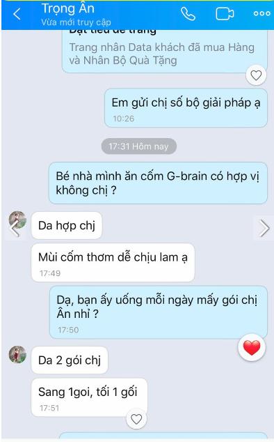 cam nhan khach hang sau dung com tri nao gbrain