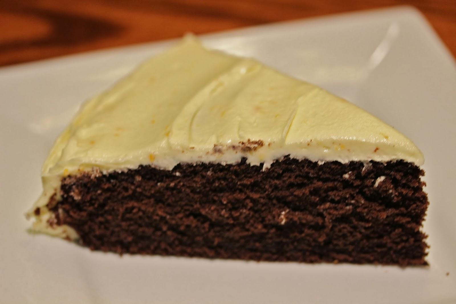 Tasty Treats: Chocolate Cake with Orange frosting