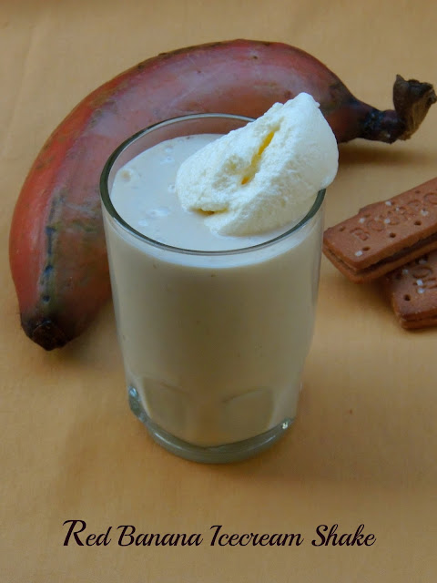 Red banana Icecream shake
