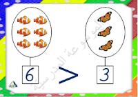 معلقات القسم - علامات المقارنة - أصغر