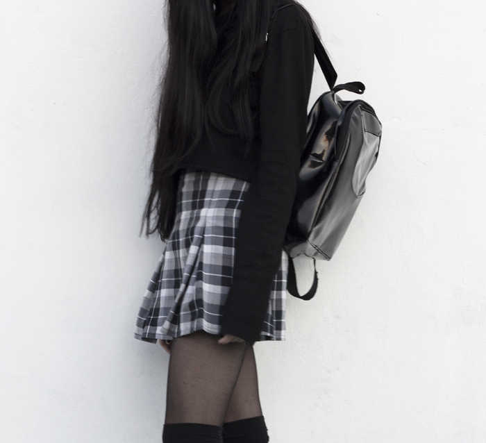 lune, nocturne, blog, blogger, plaid, skirt,