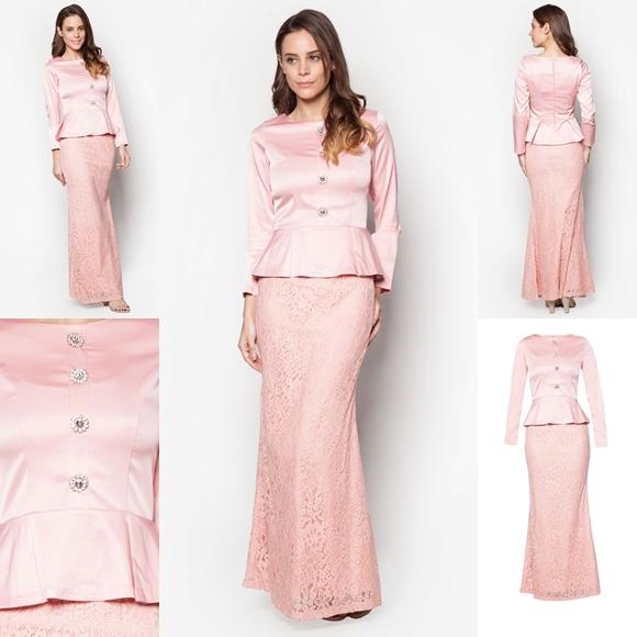 November 2016 Baju Kurung Moden Peplum Salma Pink By Vercato - Fesyen Trend Terkini