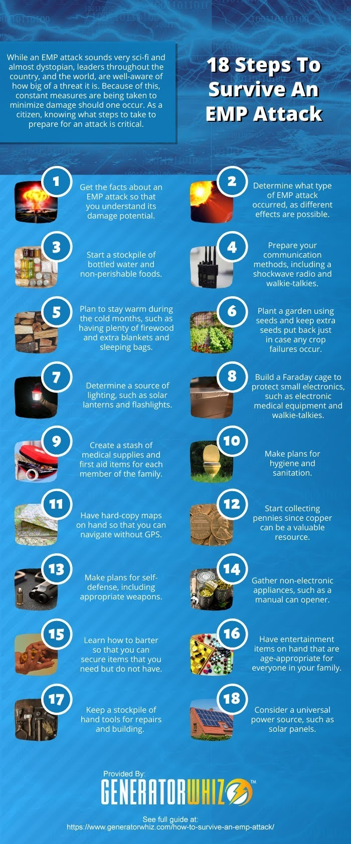 18 Steps To Survive An EMP Attack #infographic