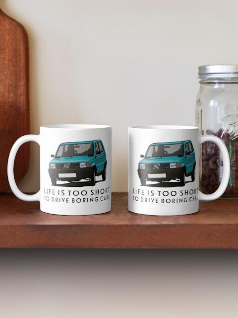Fiat Panda 45 tee &  coffee mugs