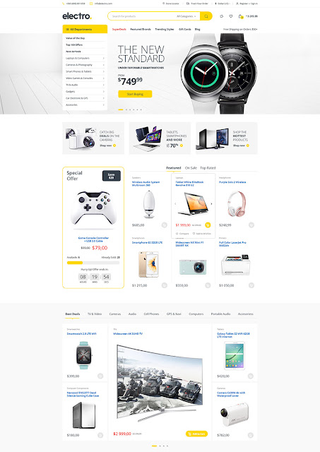 electro eCommerce PSD template