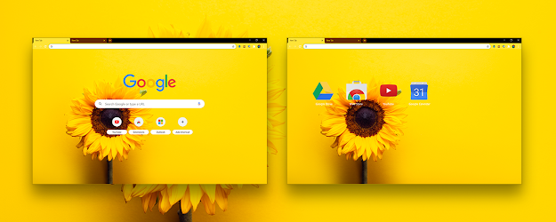 Sunflower Yellow Google Theme  | Chrome Web Store