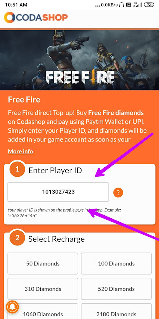 Free fire Diamond recharge kaise karen?