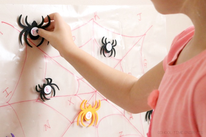 matching spiders to spider web sticky wall