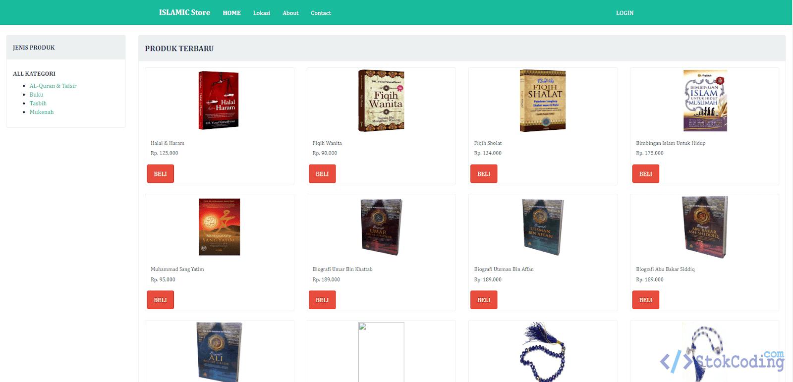 Aplikasi Toko Buku Islami Online (PHP)