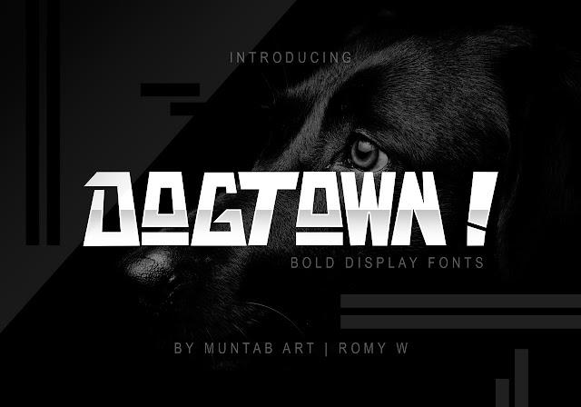 Шрифт Dogtown