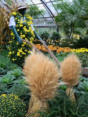 Farmer mannequin at 2016 Allan Gardens Conservatory  Fall Mum Show by garden muses-not another Toronto gardening blog