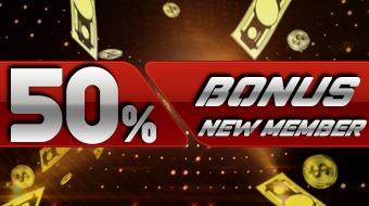 Live Casino Bonus 50% Deposit Member Baru