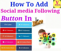 How To Add Responsiv Social media Following Button In Blog  & website [Hindi]
