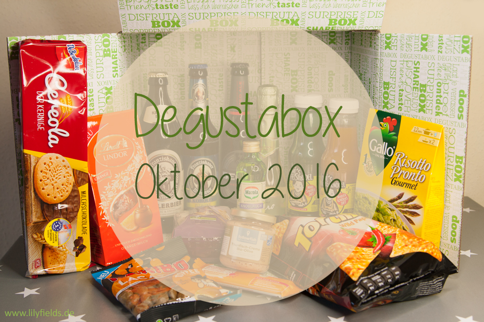 Degustabox - Oktober 2016 - unboxing