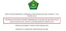 Rp. 1.350.000/bulan, Juknis Tunjangan Khusus bagi Guru Bukan PNS Guru Raudlatul Athfal dan Madrasah