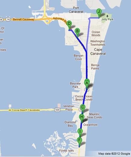 Map Of Florida Hotels.Cocoa Beach Florida Hotels