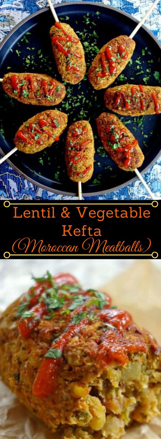 LENTIL AND VEGETABLE KEFTA #vegetarian #easy #food #lowcarb #dinner