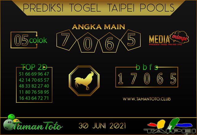 Prediksi Togel TAIPEI TAMAN TOTO 30 JUNI 2021