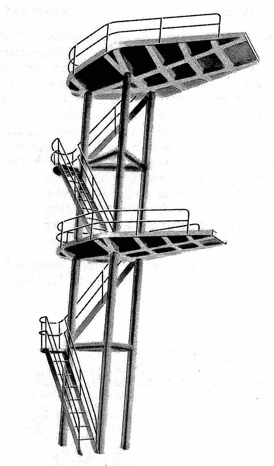 a high diving tower 1960s?