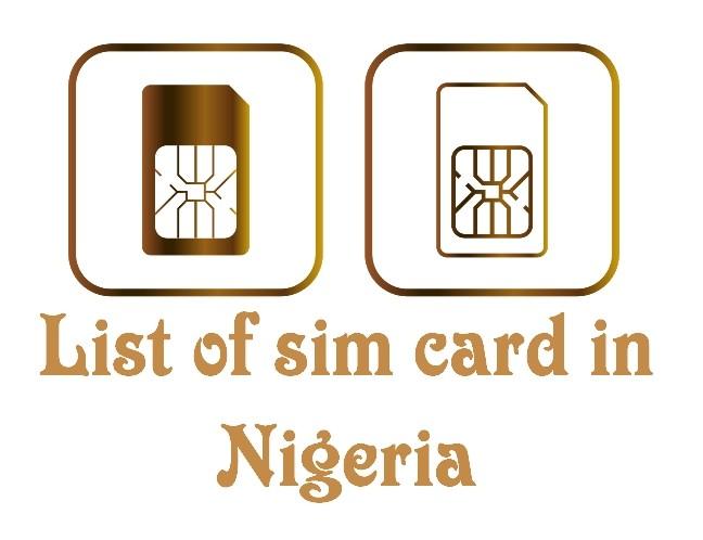 List of sim card in nigeria