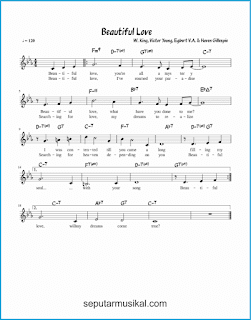 chord beautiful love lagu jazz standar