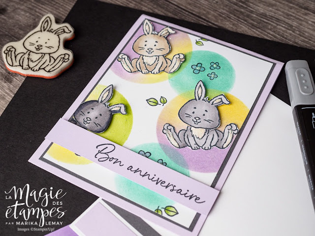 Carte d'anniversaire Stampin' Up! fait avec le jeu Bienvenue à Pâques