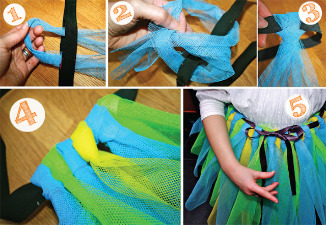 how to make peacock tutu  children kids party craft