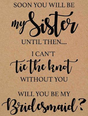 bridesmaid proposal printable cards