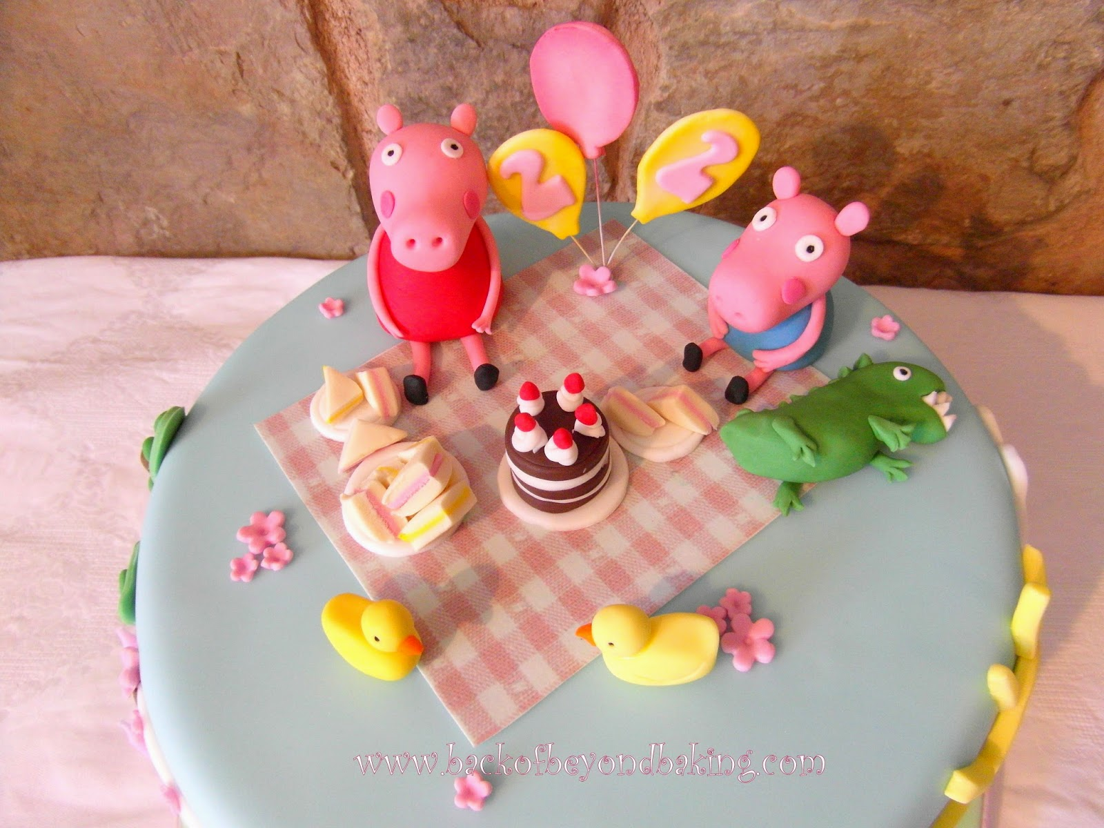 peppa and george picnic cake