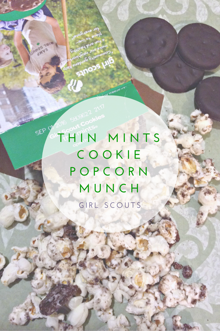 Girl Scouts Thin Mints Cookie Popcorn Munch #howdoyoudunk #recipe