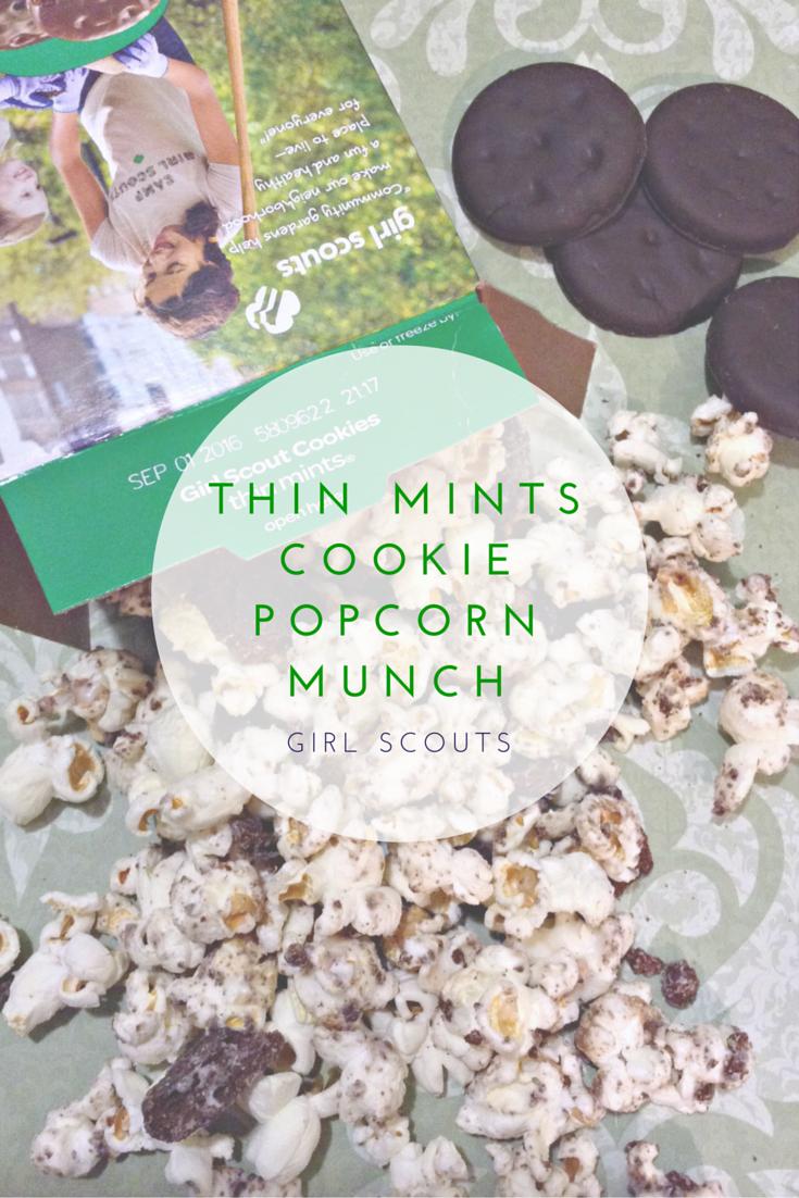 Girl Scouts Thin Mints Cookie Popcorn Munch #howdoyoudunk #recipe