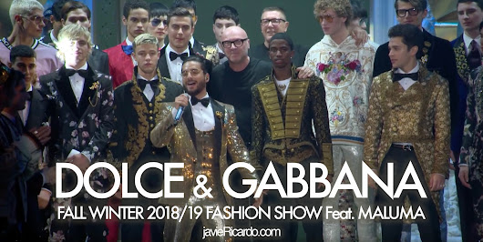DOLCE & GABBANA - FALL WINTER 2018/19 MEN's FASHION SHOW Feat. MALUMA