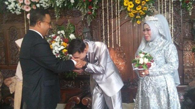 Pasangan Monna dan Zainal Bersyukur Bisa Menikah di Kediaman Anies Baswedan