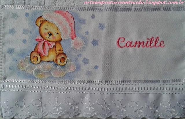 toalha de boca infantil pintura em tecido