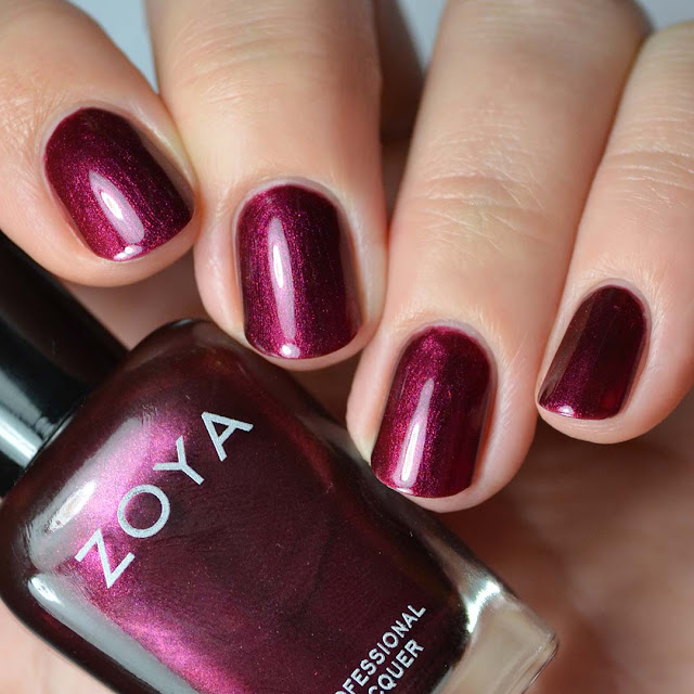 cabernet shimmer nail polish