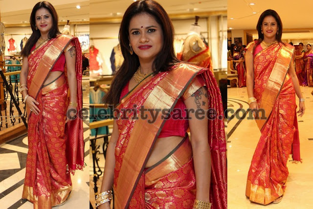 Red Kancheepuram Silk Saree