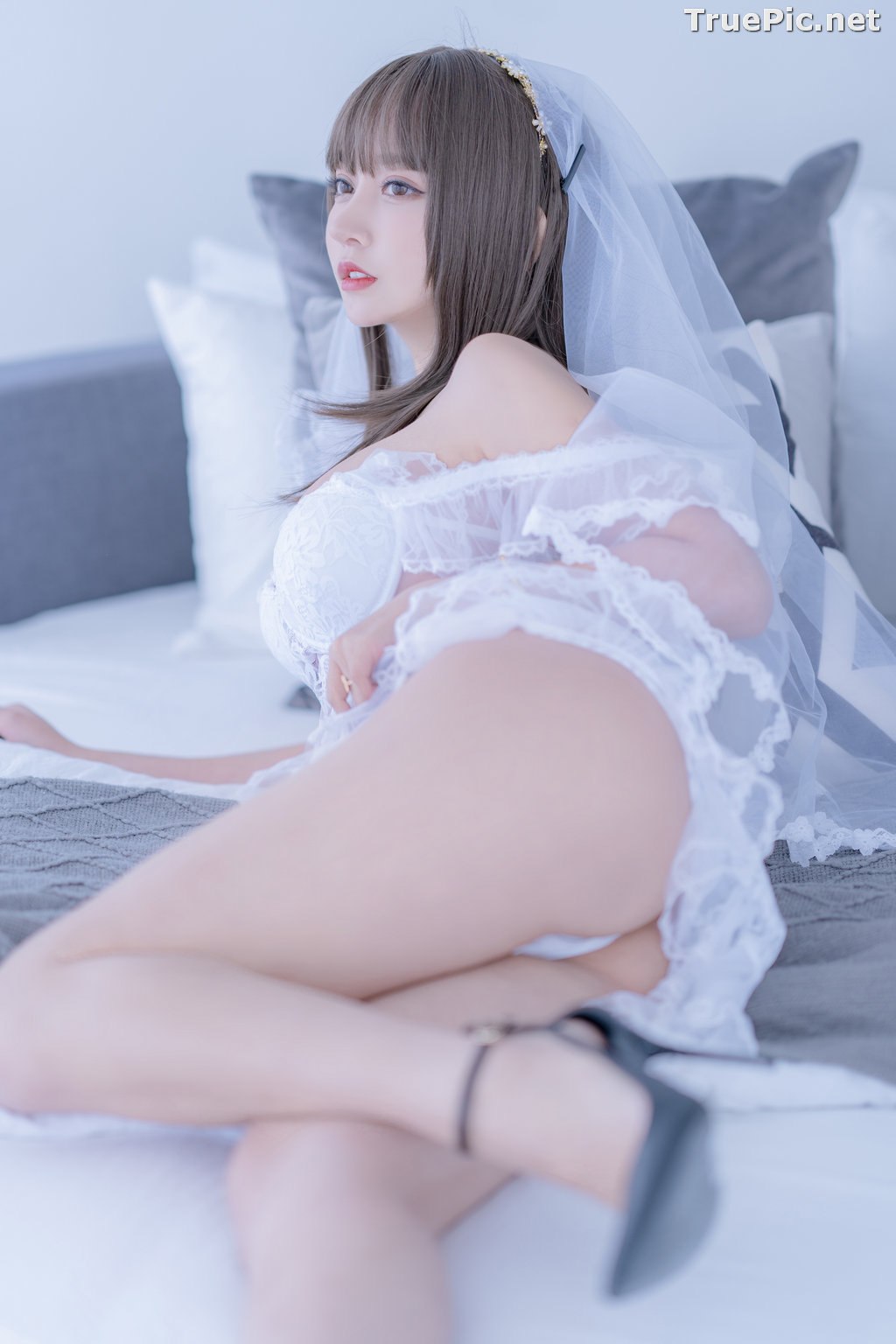 Image Chinese Cosplay Model - 过期米线线喵 (米線線sama) - Beautiful Sexy Bride - TruePic.net - Picture-1