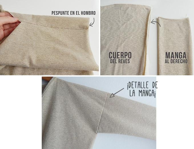 diy chaqueta oversized coser mangas