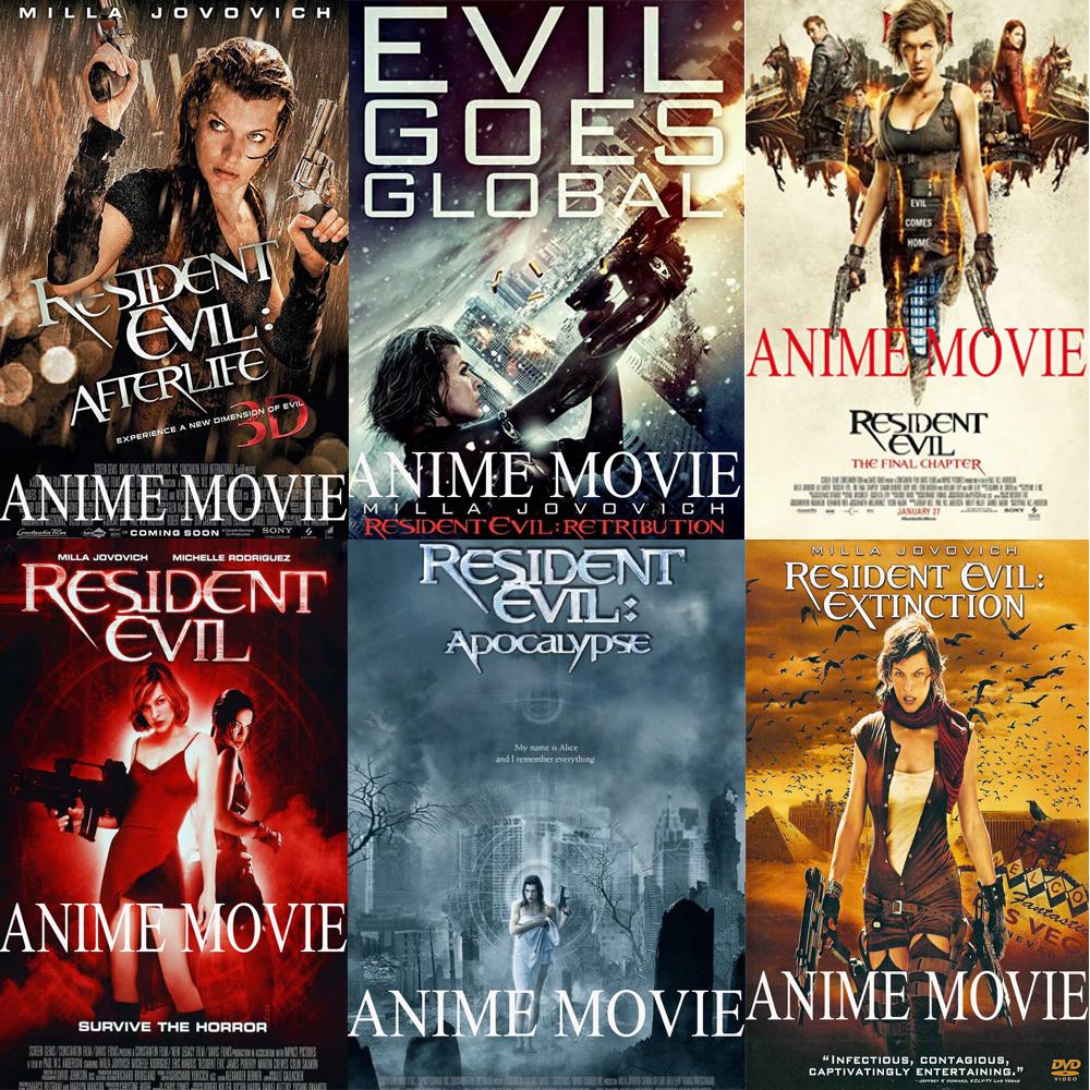 سلسلة افلام الشر المقيم Resident Evil
