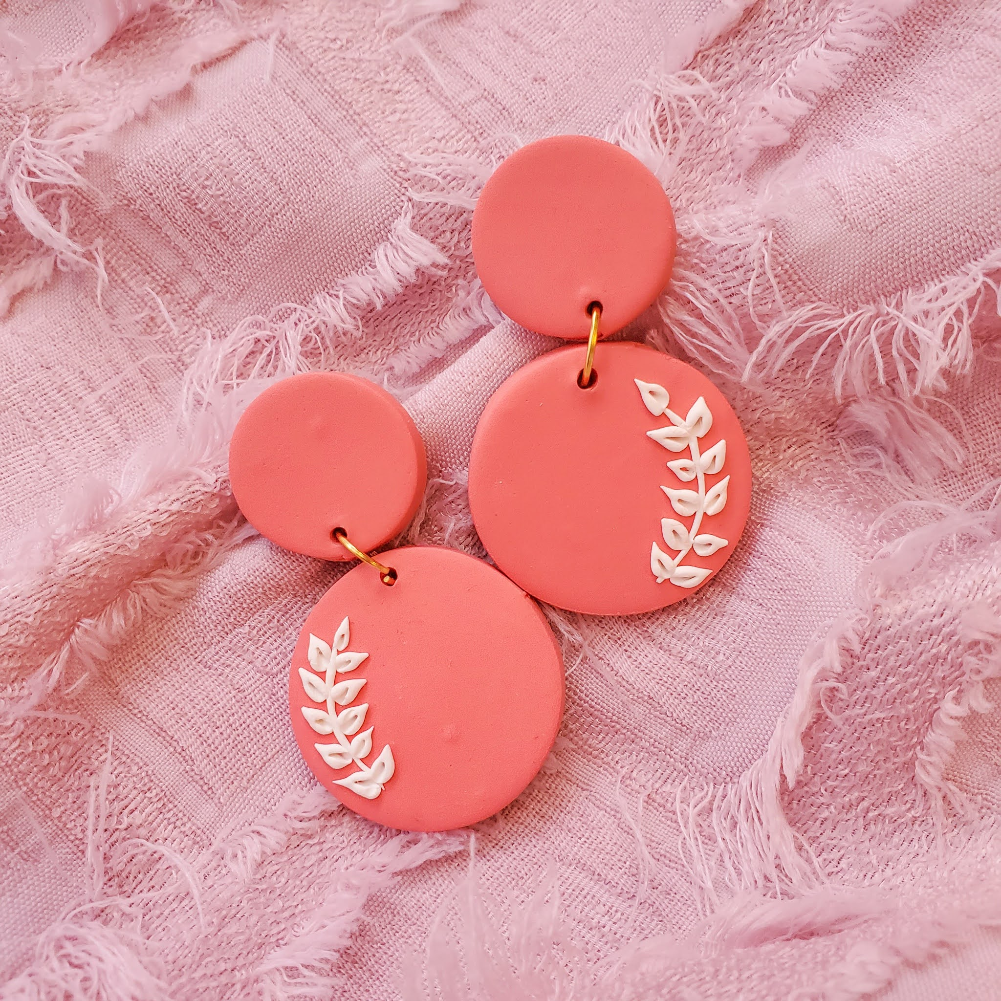 Handmade polymer clay statement earrings