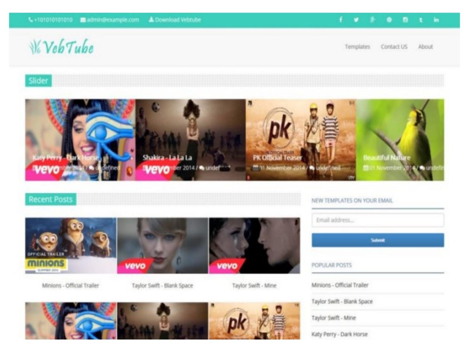 Veb Tube Blogger Template