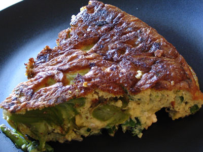 Asparagus and Feta Cheese Frittata