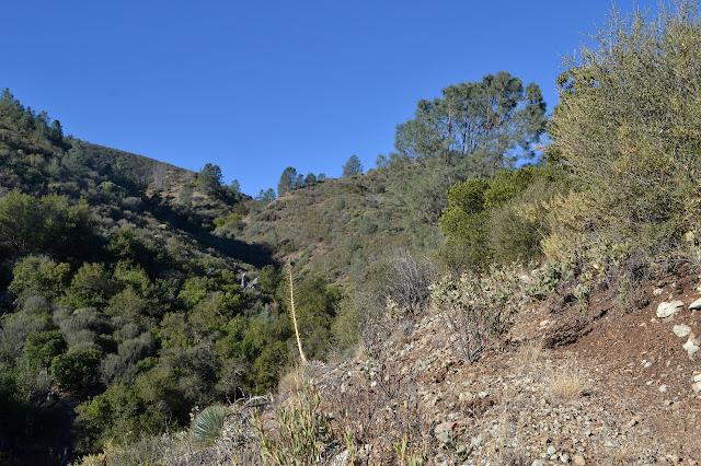 little hills beside canyon
