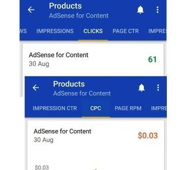 AdSense Vs AdMob Earnings CPC per click