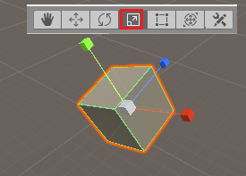 scale tool in unity editor