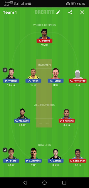 AUS vs SL Dream11 Match Prediction | 2nd T20I, Playing11, Fantasy Team News,aus vs sl match dream team