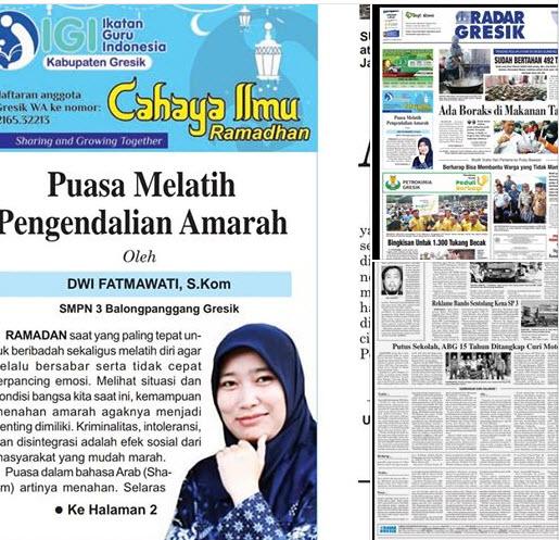 Tulisan Bu Dwi Fatmawati, S.Kom, Guru SMPN 3 Balongpanggang